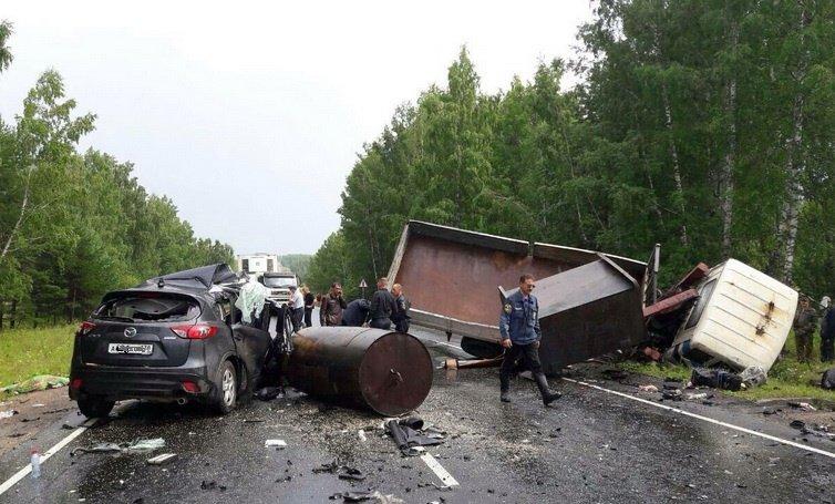 Женщина-пассажир погибла вДТП вНижнеудинском районе Приангарья